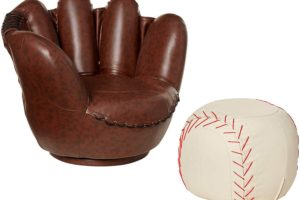 Baseball Glove Chair/Ottoman