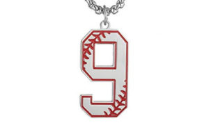 Baseball Pendant Necklace Jersey Number