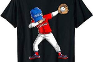 Dabbing Baseball T Shirt Boys