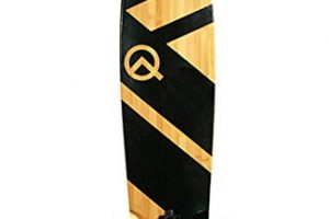 "Bamboo and Maple 44"" Longboard Skateboard"
