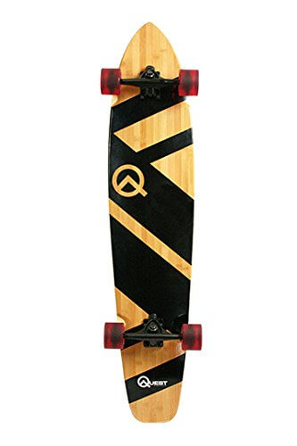 "Bamboo and Maple 44"" Longboard Skateboard"