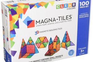 Magna-Tiles Clear Colors 100 Piece Set
