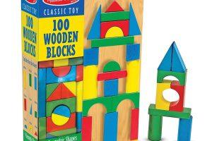 Melissa & Doug Wooden Building Blocks Set (Developmental Toy,